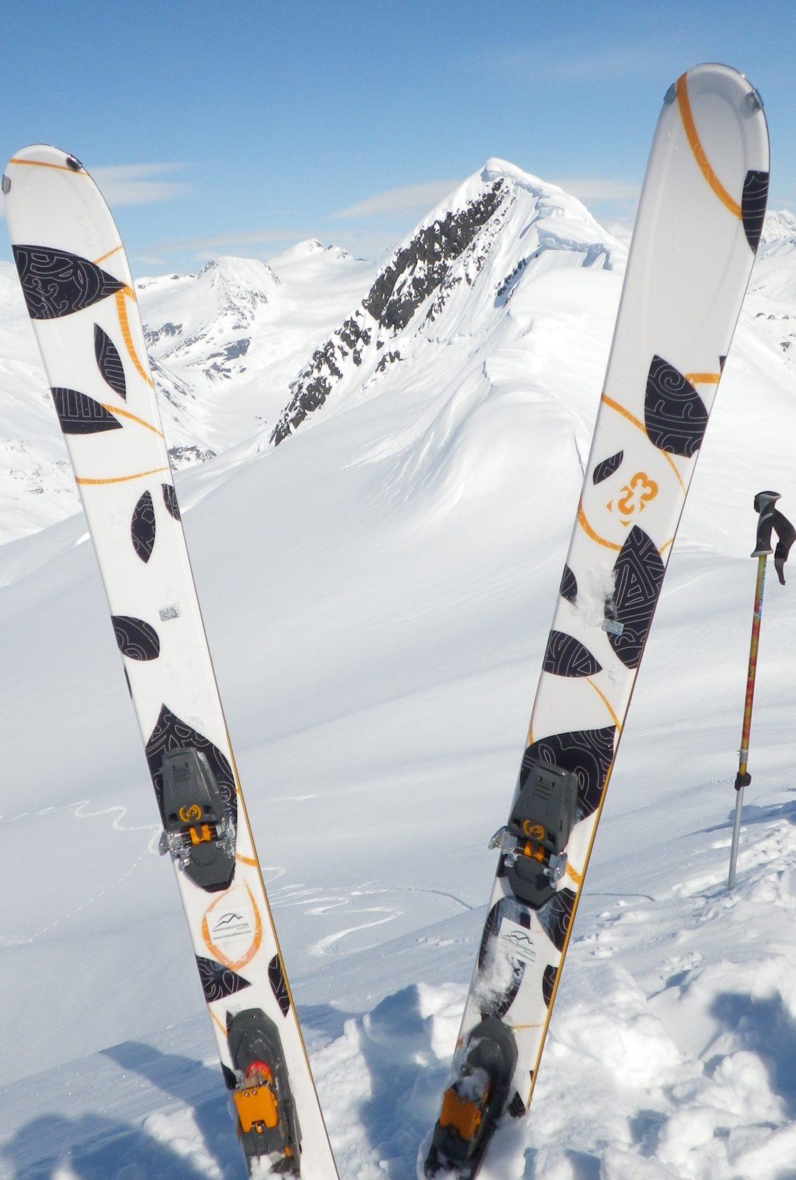 G3 skis in Alaska backcountry