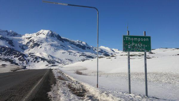 Valdez - Thompson Pass Sign