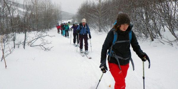 beginner ski tour