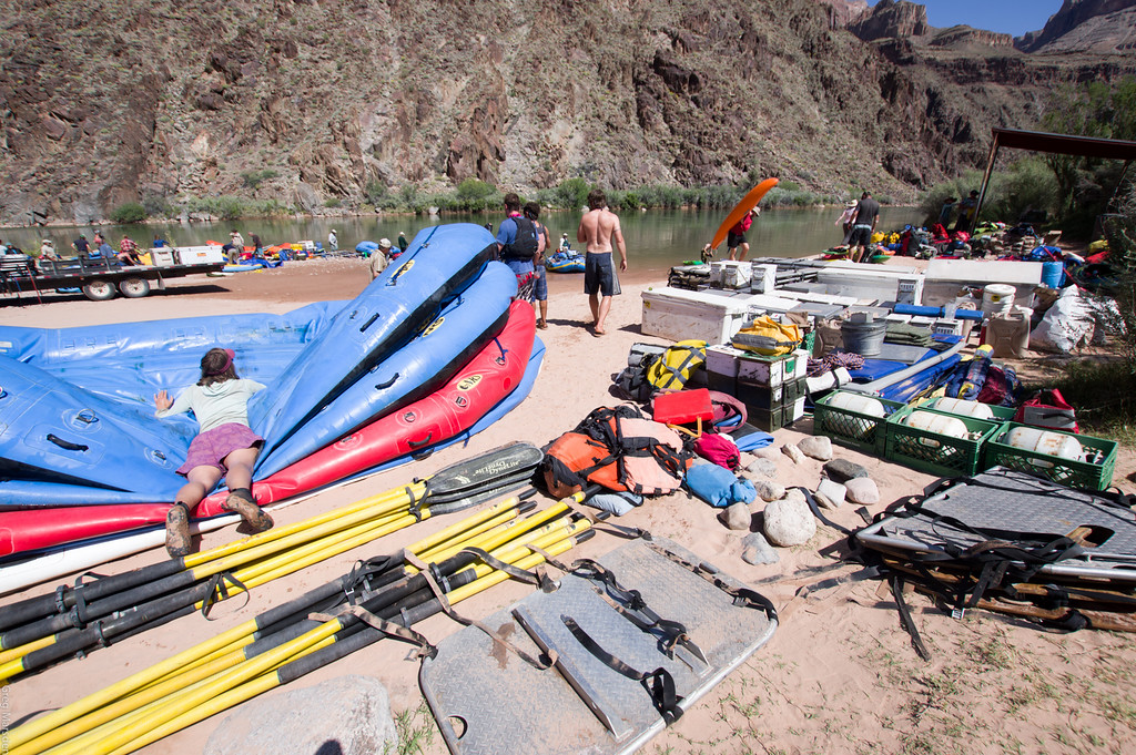 rafts, kayaks, rentals, groovers, ammo cans, food