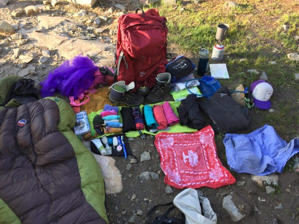 womens backpacking items