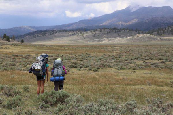 friends looking at peak Monache Meadows Beck Meadow California PCT Pacific Crest Trail JMT john muir trail