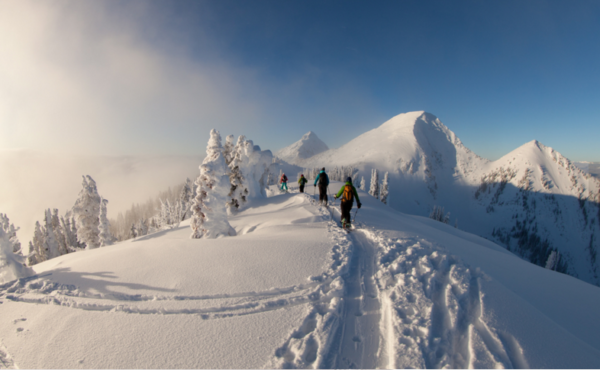 alpine touring backcountry skiing valhalla mountains backcountry babes vmt powder highway canadian rockies