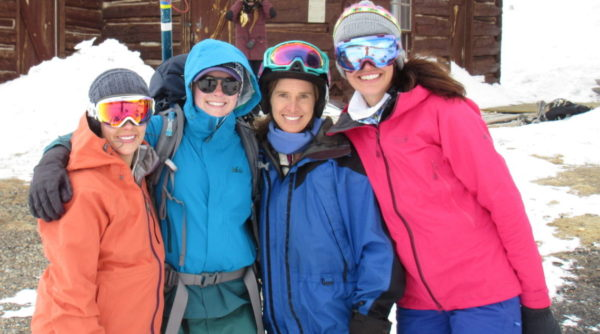 backcountry babes at the hut