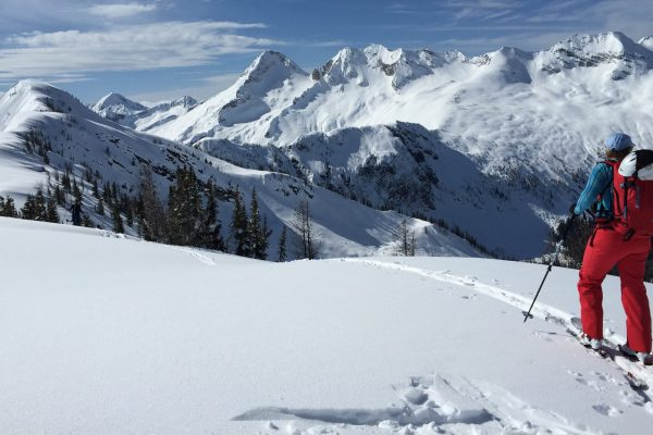 women's backcountry ski trip to powder creek lodge, british columbia, canada hut trip