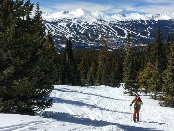 splitboard tour in breckenridge colorado with burton girls, leanne wren, underground snowboards, and backcountry babes