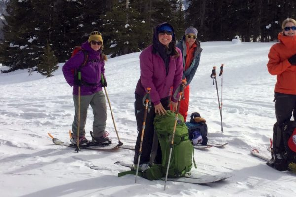 Backcountry Babes learn to backcountry ski and splitboard
