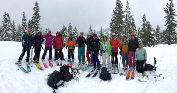 aiare level 1 avalanche education with backcountry babes in lake tahoe, california