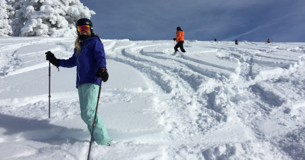 Powder Skiing in Utah with women's group Backcountry Babes