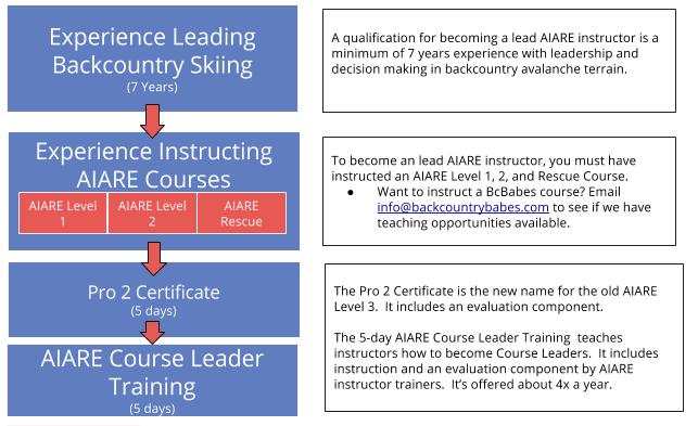 What's the AIARE Course Progression?