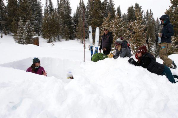 snow pit text
