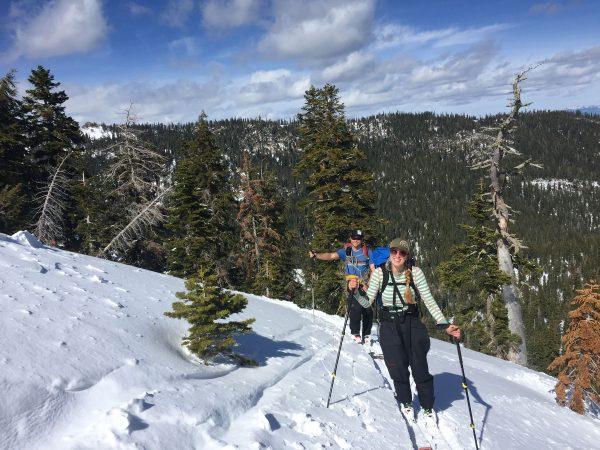 guided backcountry ski trip near squaw