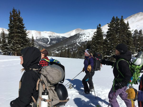 learning about avalanche terrain in vail backcountry with backcountry babes
