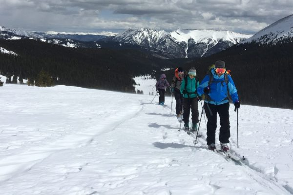 backcountry skiing in colorado's front range near Breck and Copper