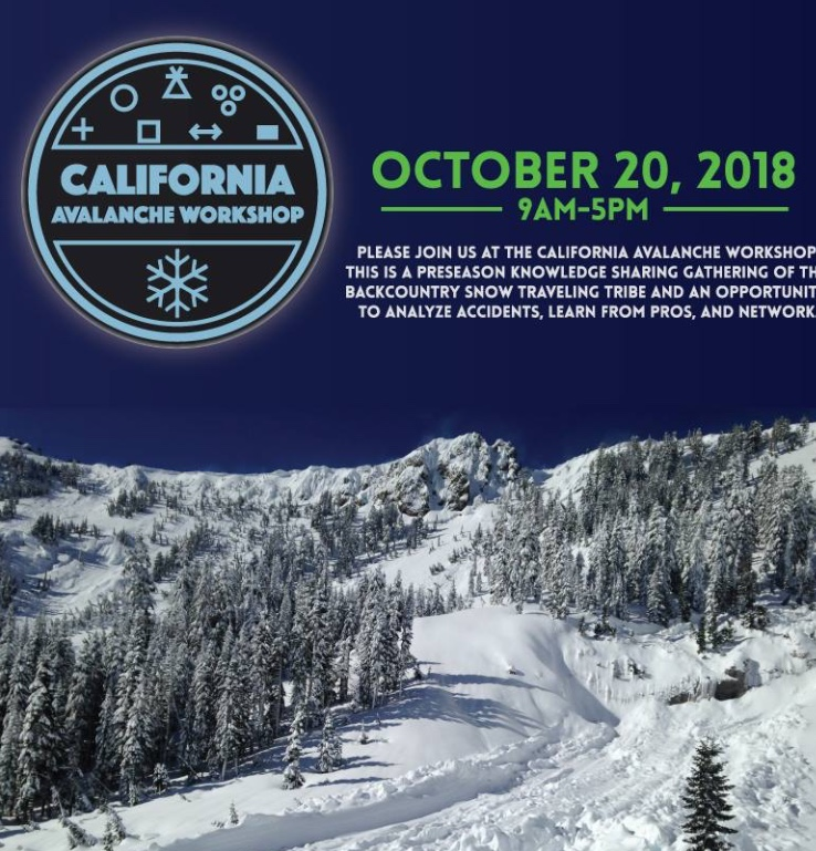 California Avalanche Workshop hosted by Sierra Avalanche Center