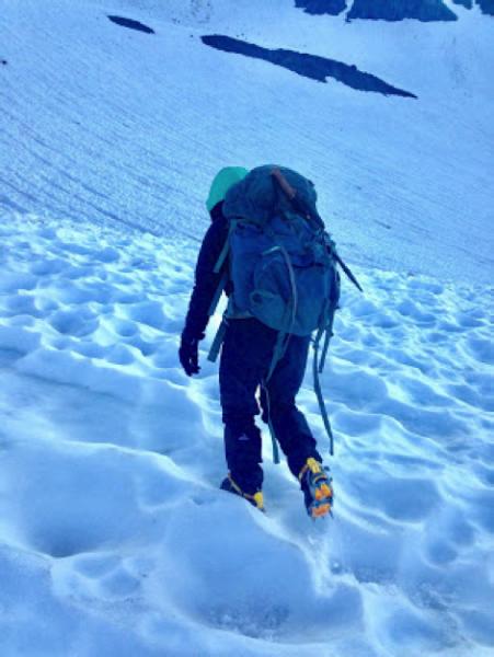 suncups on mt shasta ski mountaineering crampons