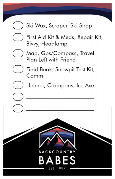 What to bring backcountry skiing packing list
