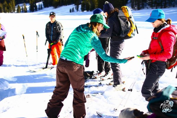 AIARE rescue course womens backcountry touring south lake tahoe