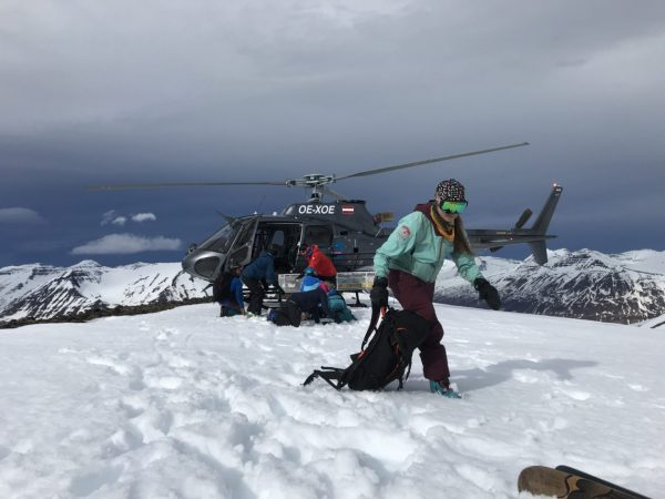 heli drop in iceland for backcountry skiing