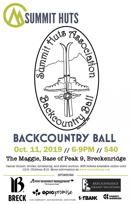Summit Hut Association's Backcountry Ball – Friday, October 11th, 2019