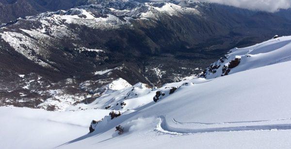 Skiing Near Nevados de Chillan